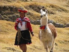 Lady with her llama