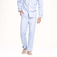 J.Crew Classic cotton poplin pajama set | $70 | gifts for guys | mens pajamas | menswear | mens style | mens fashion | wantering http://www.wantering.com/mens-clothing-item/classic-cotton-poplin-pajama-set/aVIeufgE/