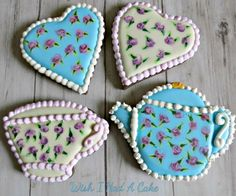 Anyone for cookie high tea? By Wish I Had A Cake
