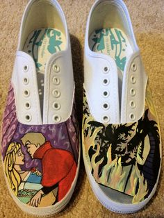 sleeping beauty shoes. $70.00, via Etsy.