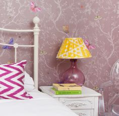 Our Pooky Elsa bedside lamps in Magenta/Photo: Susie Lowe