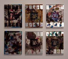 """""""FLORENCIO MAÍLLO. DEL JARDÍN DEL BOSCO"""". MNAD, C/ Montalbán 12, 28014, Madrid. Composición-07 Florencio Maíllo, """"Del Jardín de las Delicias, Trazado sin Rumbo-6250, 6243, 6245, 6308, 6449, 6244"""", unidad 52x69 cm., técnica mixta sobre aluminio, 2014-16.   http://www.iberoprinter.com/elbosco/  #maillo #florenciomaillo #elbosco #bosco @mnad_madrid #MailloMNAD #museonacionaldeartesdecorativas #mnad"""