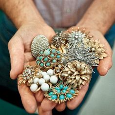 vintage brooches..I love my vintage brooch collection!