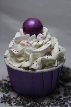 Lavender Bath Truffle Cupcake / Bath Fizzie / Bath Bomb