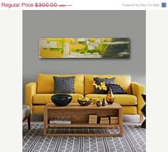 Love the painting and the mustard sofa Black Sofa, Black Walls, Mustard Sofa, Contemporary Interior Design, Interior Designing, Retro Lounge, Retro Room, Home Wall Decor, Sofa Design