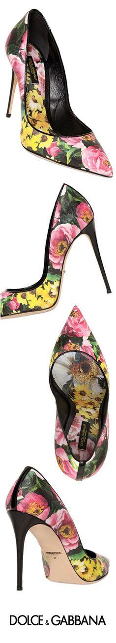 Dolce & Gabbana ~ Spring Floral Pumps, 2015