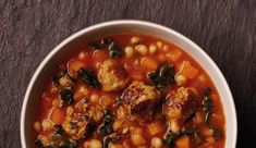 Meatball and Bean Soup Recipe - Booths