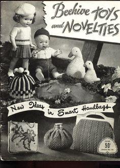 1940's Patons Beehive TOYS & NOVELTIES handbags/boutonnieres/dolls #54 SCARCE #Patons