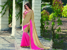 Browse this Amazing Pink & Beige Color Chiffon Saree with Pink & Beiege Satin Silk Digital Printed Blouse along with Foil, Golden Zari Lace border online at www.laxmipati.com Limited stock! 100% Genuine products! #Catalogue #GULNAR Price - Rs. 2385.00  #GaneshChaturthi #Ganesh #monsoon #Shopping #Shoppingday #ShoppingOnline #fashionstyle #ReadyToWear #OccasionWear #Ethnicwear #FestivalSarees #Fashion#Fashionista #Couture #LaxmipatiSaree