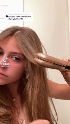 Hair Tips Video, Hair Videos, Medium Hair Styles, Curly Hair Styles, Haircuts Straight Hair, Hair Upstyles, Aesthetic Hair, Easy Hairstyles, Greasy Hair Hairstyles