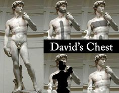 Manscaping- Statue of David illustrating a manscaping infographic- with Anthony New York Products.