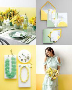 Spring Wedding Colors: Lemon Yellow & Mint Green #WilliamsSJ