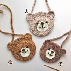 Crochet Wallet, Crochet Pouch, Diy Crochet, Crochet Dolls, Crochet Bookmark Pattern, Crochet Bookmarks, Crochet Designs, Crochet Patterns, Hello Kitty Crochet