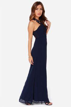 430b7a245df Exclusive Gala s Best Friend Navy Blue Maxi Dress