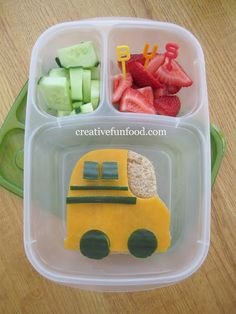 A Back to School Bus Lunch! with @EasyLunchboxes