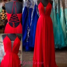 Modest Red Prom Dresses 2016 New Top Long Backless Prom Dress Sexy Open Backs Chiffon Evening Gowns For Teens