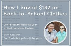 How to spend less on kid's clothes this school year