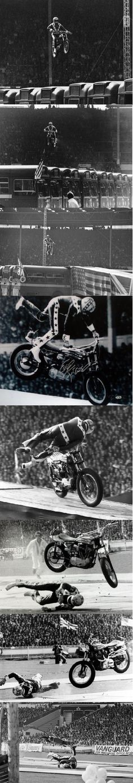 Evel Knievel's devastating crash at Wembly Stadium 1975