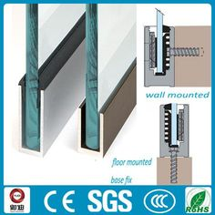 outdoor used 316 SS glass panel inox U channel railings design Glass Balcony Railing, Balcony Railing Design, Glass Stairs, Glass Fence, Glass Handrail, Frameless Glass Balustrade, Plexiglass Panels, Joinery Details, Stair Detail