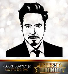 Robert Downey Jr. Silhouette, artist silhouettes, celebrity silhouette, famous people Art Drawings For Kids, Pencil Art Drawings, Art Drawings Sketches, Disney Drawings, Iron Man Drawing, Shadow Portraits, Silhouette Artist, Graffiti Pictures, Stencil Art