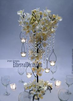 buy metal tree to hang orchids and crystals