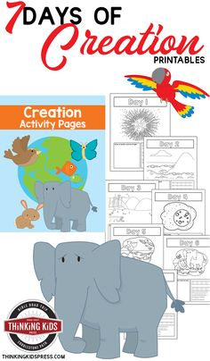 7 Days of Creation | Color Number Printables Your kids can learn the 7 days of Creation in a fun way with this free set of color the number printables -- with a fun activity for each day!