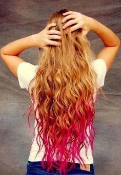 colored long hair - Google Search