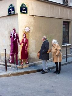 "Street art is your friend. Street Artist: Levalet Street art Paris William Blake, ""The Marriage of Heaven and Hell"" 3d Street Art, Urban Street Art, Amazing Street Art, Street Art Graffiti, Urban Art, Amazing Art, Urban Graffiti, Awesome, Urbane Kunst"