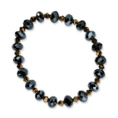 Black & Brown Crystal Stretch Bracelet Jewelrypot. $23.99. Your item will be shipped the same or next weekday!. Fabulous Promotions and Discounts!. 100% Satisfaction Guarantee. Questions? Call 866-923-4446. All Genuine Diamonds, Gemstones, Materials, and Precious Metals. 30 Day Money Back Guarantee. Save 45% Off!