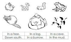 """Printable Pictures of Hibernating Animals 