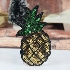 Embroidered iron on patches for clothes sequins patch pineapple deal with it clothing DIY Motif Applique Free shipping-in Patches from Home & Garden on Aliexpress.com | Alibaba Group