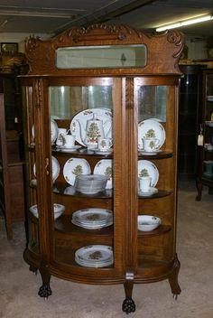 Oak China Cabinet   C1890