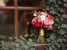 Image result for wedding flower bouquet red, pink and white