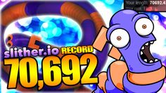 SLITHER.IO 70,692 RECORD!!!! LEGIT (Slither.io Gameplay Fun)