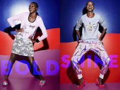 "Kenyan-Born Model Yaya Deng For Peter Alexander Sleepwear ""Bright Nights"