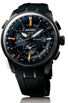 Seiko has been putting serious resources into the success of their Seiko Astron GPS Solar watch collection that they debuted about two years ago. Stylish Watches, Luxury Watches, Cool Watches, Casual Watches, Best Solar Watches, Modern Watches, Skagen, Fossil, Breitling Colt