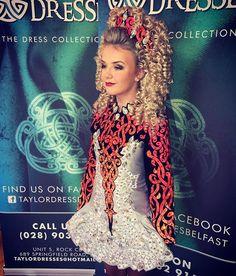Taylor Irish dance dresses #silver #grey #orange #black #irishdancedress #taylordressesbelfast