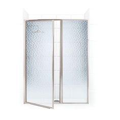 Coastal Shower Doors Legend Series 47 in. x 66 in. Framed Hinge Swing Shower Door with Inline Panel in