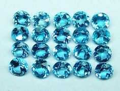 Masterpiece Natural Super Fine Hot Swiss Blue Topaz 3 MM Round Cut Loose Gem AAA