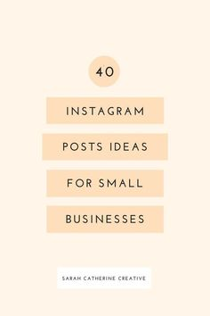Here's a huge list of #Instagram posts for your small business. Small Business Marketing, Business Tips, Social Media Marketing, Online Marketing, Salon Business, Business Motivation, Creative Business, Online Business, Bio Instagram