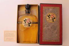 "FLACON ANCIEN ""la rose rêvée "" BOURJOIS en coffret 1925"