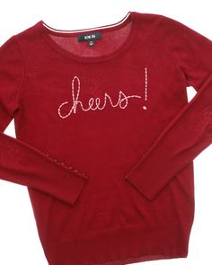 Cheers Embroidered Sweater