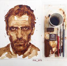 Deze portretten zijn niet gemaakt met verf, maar met koffie   The Creators Project