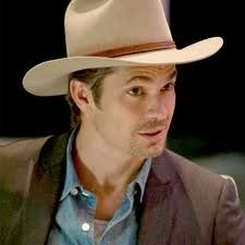 Timothy Olyphant as Raylan Givens in Justified.  Great actor and great tv show!  He is today's John Wayne kinda cool!