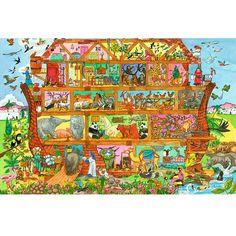 Er is niets leuker dan het puzzelen met de dieren van de ark van Noach. Prachtige houten legpuzzel. Aantal puzzelstukken: 24. Afmeting: 61 x 43 x 0,4 cm. Uniek: