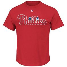 Just $17.99 !! PHILADELPHIA PHILLIES Wordmark T-Shirts - NEW/NWT RED  Majestic MLB Asst Szs #Majestic #PhiladelphiaPhillies
