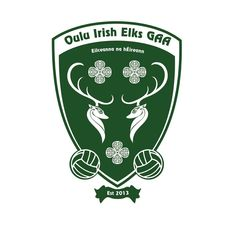 The crest of Oulu Irish Elks GAA, the most northern GAA team in the world. Elks, Crests, Brand Design, Creative Art, Irish, Football, History, Logos, Sports
