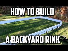 How to Build a Backyard Hockey Rink
