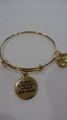 A personal favorite from my Etsy shop https://www.etsy.com/listing/493890465/teacher-bracelet-big-hearts