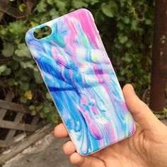 Marbled Paint iPhone Case